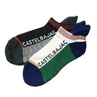 (カステルバジャック)CASTELBAJACロゴ柄 レディース スニーカー靴下 2足組 4629