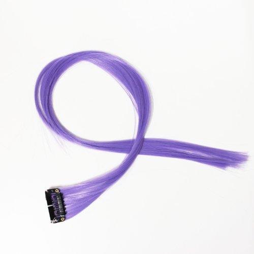 """Bunte Strähnchen 1 x Clip In Extensions 50cm (20"""") Haarverlängerung glatt langhaarHaarteil (4)"""