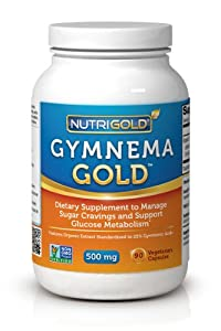 Gymnema Sylvestre Gold (Organic), 500 mg, 90 veg. capsules