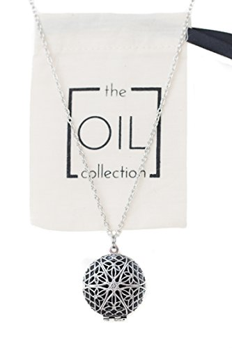 Essential Oils Diffuser Locket Necklace Aromatherapy (Antique Silver Finish)