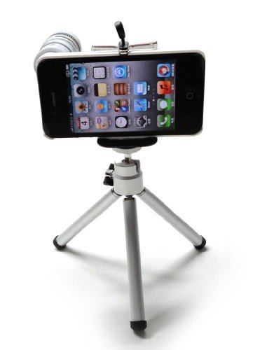 8X Zoom Telescope Camera Lens Kit + Iphone 4 4S Holder+Tripod + Apple Iphone 4 4S Case