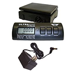 My Weigh Ultraship 55lb Electronic Digital Shipping Postal Scale in Black with Power Supply Adapter
