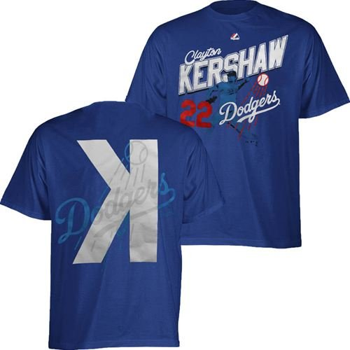 Los Angeles Dodgers Majestic MLB Clayton Kershaw #22 Youth Pure Excitement T-Shi at Amazon.com
