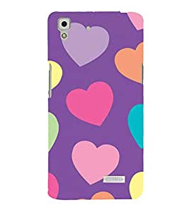 printtech Hearts Love Back Case Cover for  Oppo R7