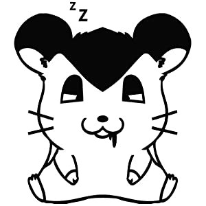Hamster Sleep Deep - Cartoon Decal Vinyl Car Wall Laptop Cellphone Sticker