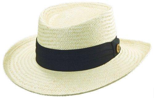 Dorfman Pacific Mens Tommy Bahama Straw Gambler Hat Large/X-Large