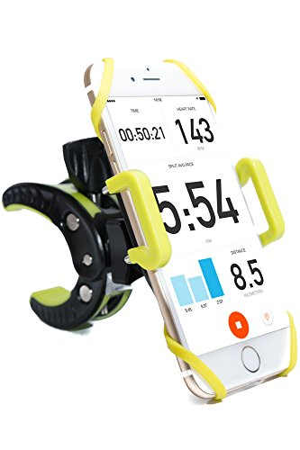 REZOR Universal Bike Phone Mount Cell Phone Cradle Fits all smart phones, iPhone 7, 6S, 5S , LG, Samsung Galaxy S5 S4 S3, Xiaomi, Sony, on all sizes of Bicycle and Motorcycle handlebars