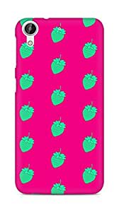 AMEZ designer printed 3d premium high quality back case cover for HTC Desire 626 LTE (green pink strawberries)