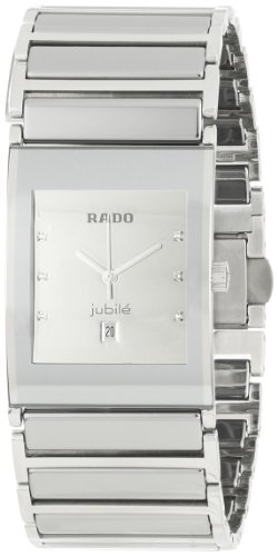 Rado Men's R20745712 Ceramic Analog Silver Dial Watch