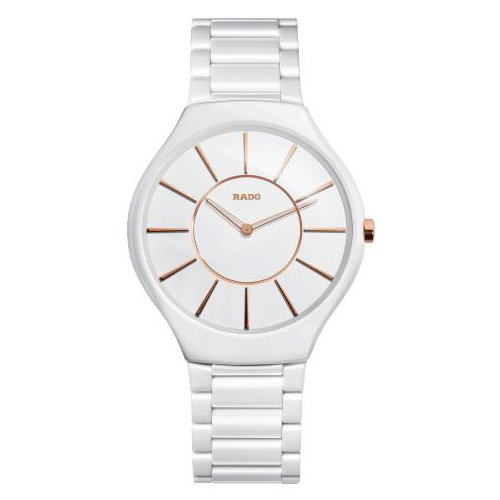 Rado True White Dial Ceramic Ladies Watch R27957102