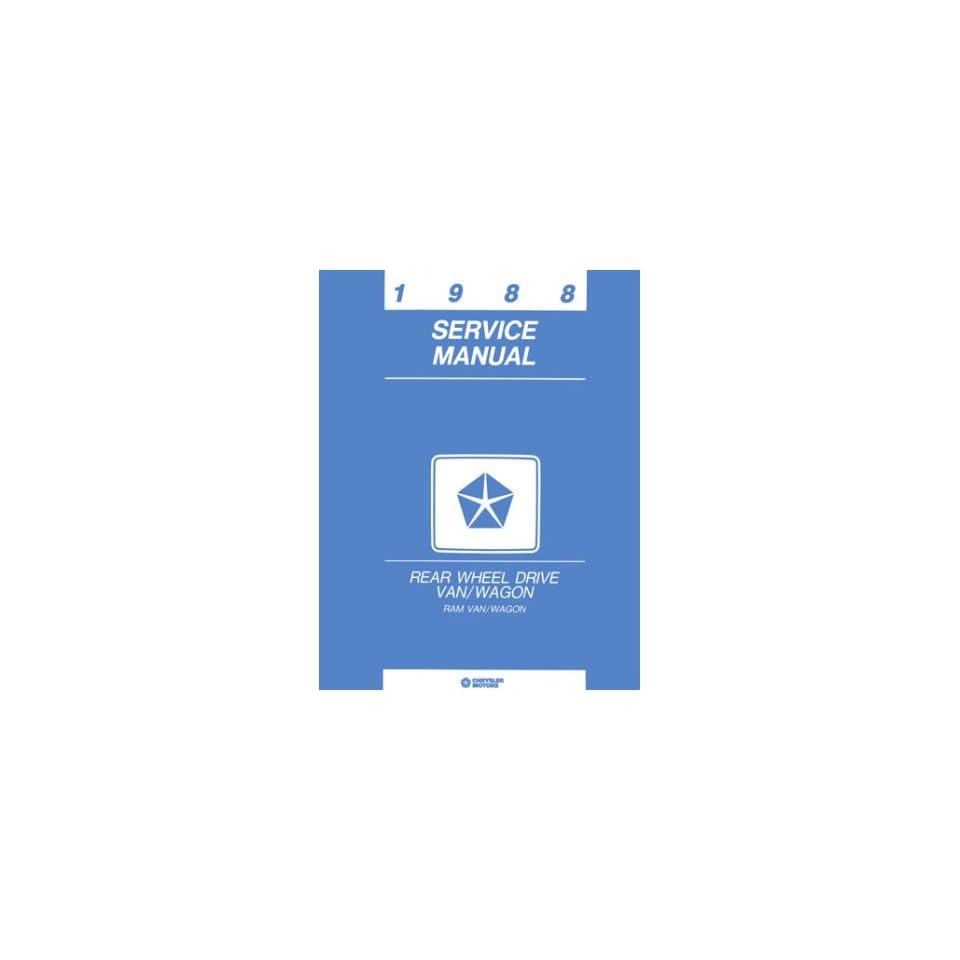 1988 Dodge Ram Van Shop Service Repair Manual Book Engine Drivetrain Wiring OEM