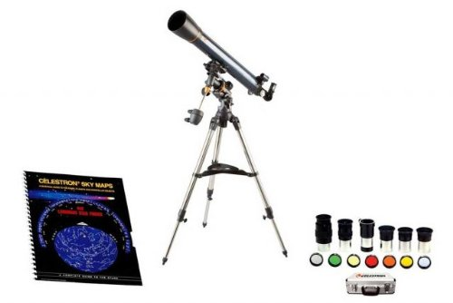 Celestron Astromaster 21064 Kit - Celestron Astromaster 90Mm Equatorial Refractor Telescope 21064,