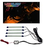 419TnVNuCpL. SL160  4pc. Orange LED Interior Underdash Lighting Kit