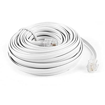 9M 30ft RJ11 6P2C Modular Telephone Phone Cables Wire White from Gino