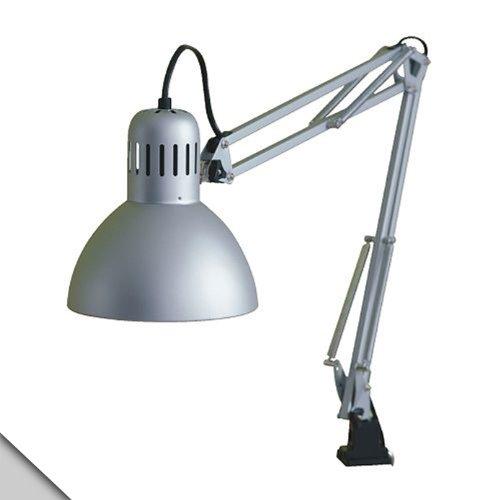 Ikea - Tertial Work Lamp, Silver Color + E26 Led Bulb