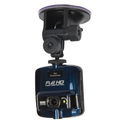 "Allske Car Dvr Camcorder 2.4"" Tft 5Mp 1080P W/ 1 X Led Light + G-Sensor - Black + Blue"