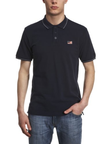 Wrangler Newman Polo Men's T-Shirt Navy Small