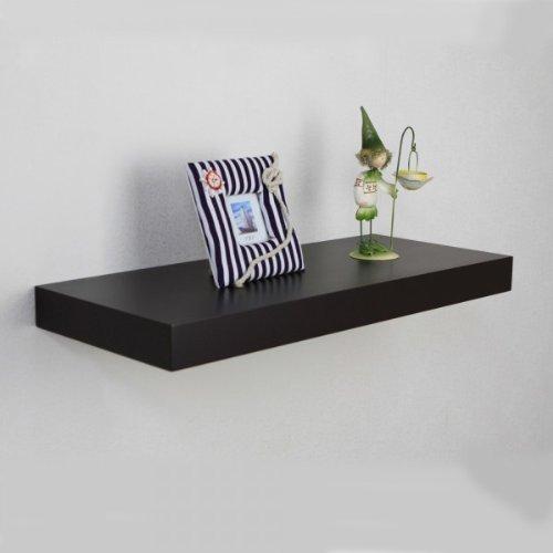 Naiture 24 x 10 x 2 Inch Floating Wall Shelf, Espresso
