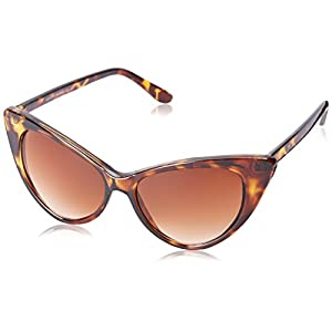 Super Cateyes Vintage Inspired Fashion Mod Chic High Pointed Cat-Eye Sunglasses (Dark-TT)