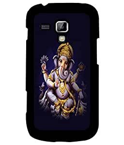 Fuson Premium Ganapathi Bappa Moriya Metal Printed with Hard Plastic Back Case Cover for Samsung Galaxy S3 Mini i8190