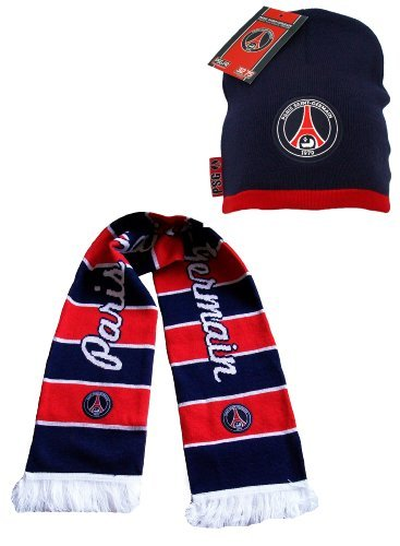 f0aaf99ac5b0 Coffret cadeau PSG Echarpe + Bonnet - collection officielle - PARIS SAINT  GERMAIN - Football Ligue