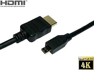 ATS direct  HDMIケーブル HDMI Aタイプ / マイクロHDMI(Dタイプ) ハイスピードイーサネット 1.5m 【A0215B】