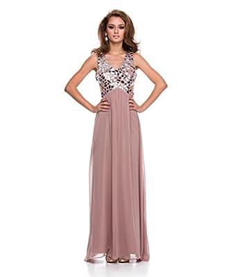 Blush Chiffon & Mirror Bust Gown 2015 Prom Dresses
