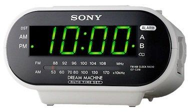 Sony ICF-C318 Automatic Time Set Clock Radio with Dual Alarm (White)