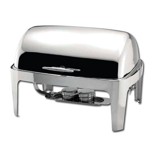 Winware 8 Quart Stainless Steel Roll Top Chafer