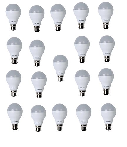 9 Watt LED Bulb (White, Pack of 19)