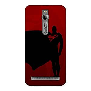 Premium Red Uper Back Case Cover for Asus Zenfone 2