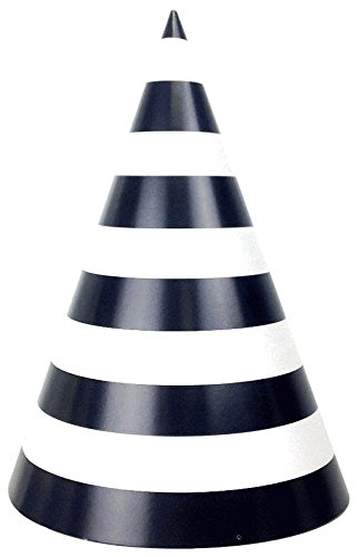 Just Artifacts Party Cone Hats 12pcs Striped Black (Black Cone Party Hats compare prices)