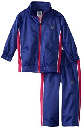 Russell Athletics - Kids Little Girls' Brushed Tricot Set with Side Insert, Prestige Purple, 2T