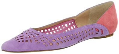 Belle by Sigerson Morrison Women's Vada2 Flat,Purple Suede,6.5 M US