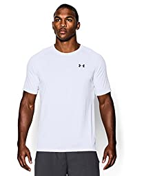 Men\'s UA TechTM Shortsleeve T-Shirt Tops by Under Armour (White/Black, Large)