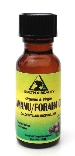 Tamanu / Foraha Oil Organic Pure Cold Pressed 0.5 Oz In Glass Bottle