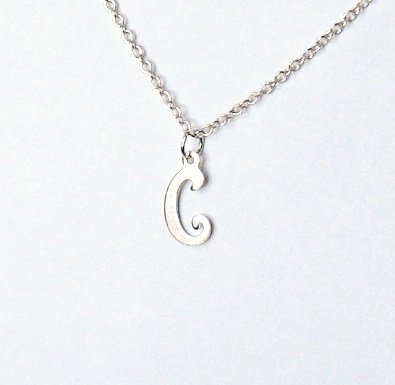 Midor925 925 Sterling Silver Childrens Initial Pendant Necklacemd00156NIn Gift Box