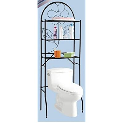 over the toilet spacesaver etagere black bathroom accessory sets. Black Bedroom Furniture Sets. Home Design Ideas