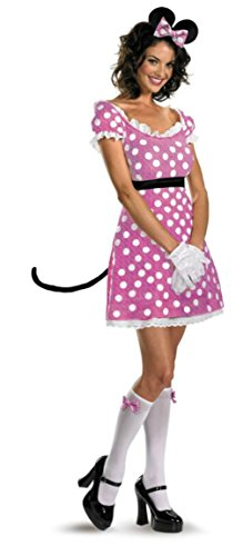 Disguise Womens Minnie Mouse Sassy Pink Theme Party Fancy Halloween Costume