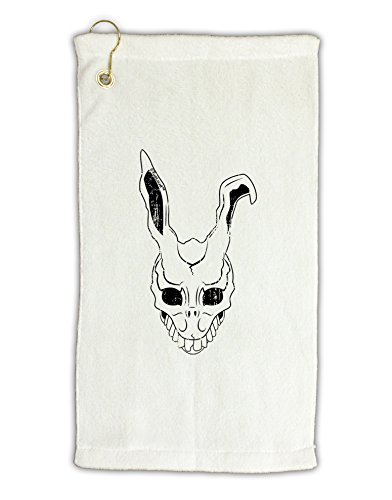 [TooLoud Scary Bunny Face White Distressed Micro Terry Gromet Golf Towel 11