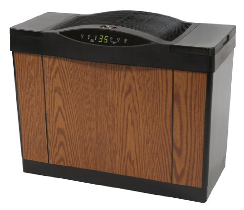 Essick Air 4DTS 300 Variable-Speed Evaporative Console Humidifier, Light Oak, Black Trim