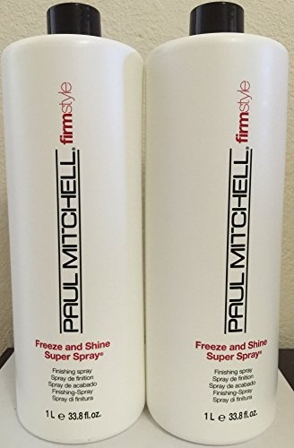 Paul Mitchell Freeze and Shine Super Spray 33.8 Oz(pack of 2) (Mitchell Freeze Shine compare prices)