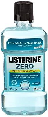 Listerine Zero Mundspülung Mild Mint, 3er Pack (3 x 500ml)