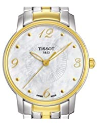 Tissot Women's T052.210.22.117.00 White Mother-Of-Pearl Dial Lady Round Watch