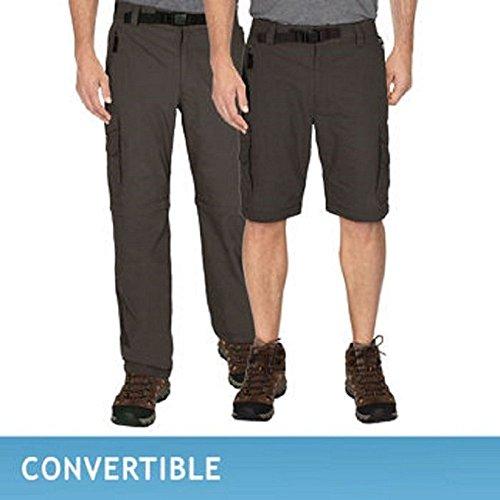 BC Clothing Mens Convertible Cargo Hiking Pants Shorts,Grey, Medium x30 (Bc Clothing compare prices)