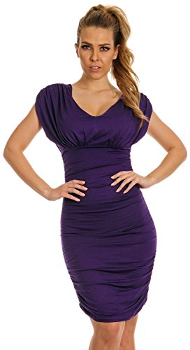 Glamour Empire Womens Bodycon Ruched Sleeveless Dress Large Bust Ladies 525