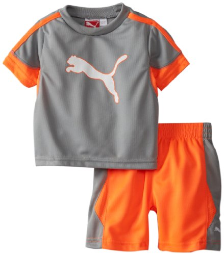 Puma - Kids Baby Boys Infant Boy Putline Set, Limestone, 12 Months front-1049427