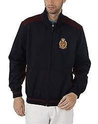 Fahrenheit Men's Fleece Sweat Shirt (8903942222252_Dark Blue Maroon_X-Large)