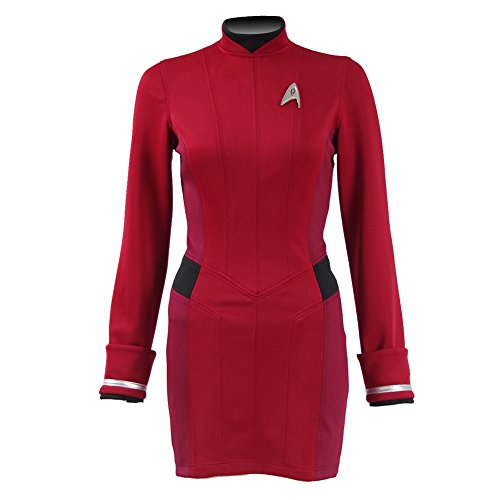 [Small Monkey Star Trek Beyond Lieutenant Nyota Uhura Uniform Halloween Cosplay Costume (US Women L)] (Lieutenant Costumes)