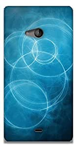 The Racoon Lean blue circles hard plastic printed back case / cover for Microsoft Lumia 540